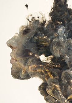 Surreal Double Exposures of Faces Blended Into Plumes of Ink in Water - Photoshop inspiration Double Exposure Photography, Art Photography, Photoshop, Exposition Multiple, Water Sculpture, Exposition Photo, Arte Obscura, Ink In Water, Montage Photo