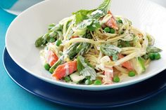 Salmon is a wonderful combination with pasta for a light and easy meal.