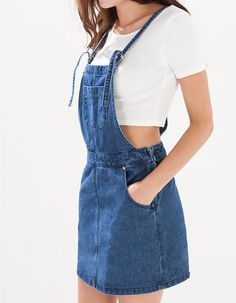 Trendy moda mujer 2019 faldas ideas Jumper Outfits Office Outfits With Jumpers Fashion Korean Fashion Trends, Fashion 101, Denim Fashion, Womens Fashion, Jumper Outfit, Salopette Jeans, Denim Overall Dress, Casual Fall Outfits, Office Outfits