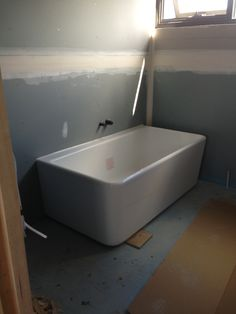 Caroma Cube 1800 Back-to-Wall Freestanding Bath from Domayne ...