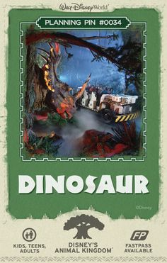 Walt Disney World Planning Pins: Take off on a scary, prehistoric tour aboard a rip-roaring Time Rover to save a dinosaur from extinction. #tips #tricks #vacation