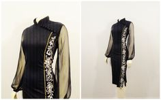 Vintage Dress 60s Alfred Shaheen Black by 2sweet4wordsVintage Love this!