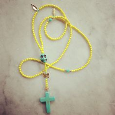 Neon & Turquoise Mexican Rosary by Amanda Marcucci jewellery