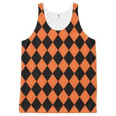 Halloween Argyle ~ Funny Preppy Costume All-Over Print Tank Top Tank Tops