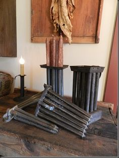 old candle molds