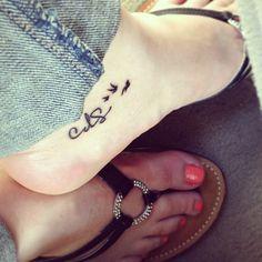 #foot #tattoo #birds #sisters