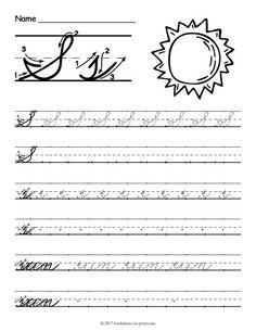 Free Printable Cursive S Worksheet Cursive S, Cursive Handwriting Practice, Improve Your Handwriting, Handwriting Analysis, Cursive Abcd, Teaching Cursive, Letter Tracing, Letter S Worksheets, Names