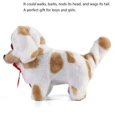 Chihuahua D DOLITY Walking /& Barking Interactive Puppy Dog Pet Toy Electronic Plush Animal Educational Gift for Kids Toddlers