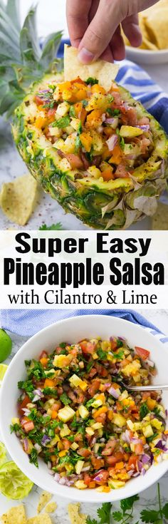 This pineapple salsa is one of my favorite BBQ recipes! Or serve it with tortilla chips for a delicious snack or appetizer. It's such a delicious summer recipe! Find more vegan recipes at veganheaven.org! #salsa #BBQrecipes #summerrecipes #vegan #vegetarian
