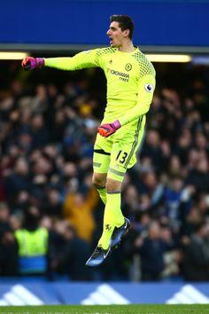 Thiabaut Courtois, a favor del Chelsea FC.