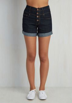 Karaoke Songstress Shorts. Step into the karaoke spotlight in these classic denim shorts! #blue #modcloth