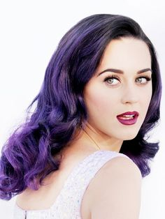 Katy Perry // Who would have thought purple hair could be so sultry? Retro waves with a twist.