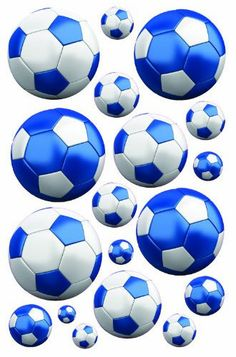 Blue Soccer Wall Decals