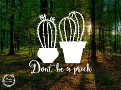 Don't Be A Prick - Cactus - Cactus Prick Decal - Cactus Sticker - Succulent - Succulent Decal - Car Decal - Laptop Sticker - MacBook Decal by MarieLoraine on Etsy