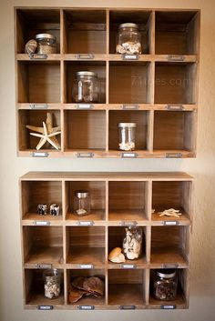 Cute way to display items collected when traveling, especially things found in nature!