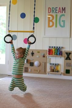 Edison Avenue: Amazing DIY Playroom With Rock Climbing Wall