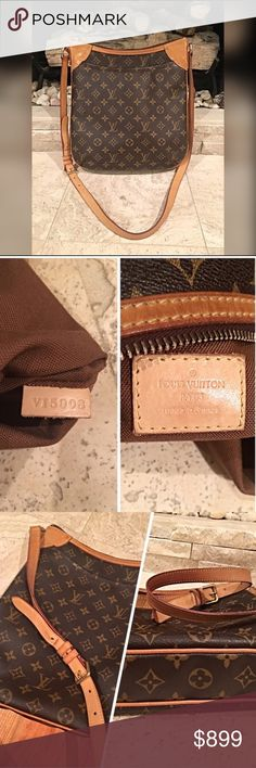 Authentic Louis Vuitton Odeon PM Crossbody! Excellent condition! Clean and Stunning! Front pocket and 2 side interior pockets- Dimensions- 10.2 x 11.4 x 2.8 - code shown in photos- happy to answer any questions Will review reasonable offers  Louis Vuitton Bags Crossbody Bags