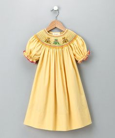 Take a look at this Yellow Cat Bishop Dress - Infant, Toddler & Girls by Rosalina on #zulily today!