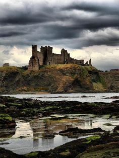 Tantallon Castle the seat of the Douglas Earls of Angus, one of the most powerful baronial families in Scotland.