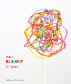 Crazy Rainbow Lollipops | 21 Gorgeous Tie-Dyed Foods That Are Almost Too Pretty To Eat