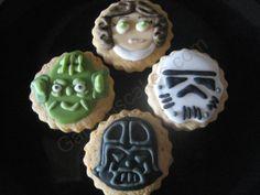 Galletas de Star wars Stars, Desserts, Food, Tailgate Desserts, Deserts, Eten, Sterne, Postres, Dessert