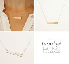 Gold Bar Necklace Layered Set of 3 Necklaces by by LayeredAndLong, $82.00