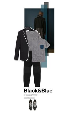 """""""Black&Blue"""" by juhh ❤ liked on Polyvore featuring Yves Saint Laurent, Paul Smith, Snow Peak, Patagonia, Vans, men's fashion and menswear"""