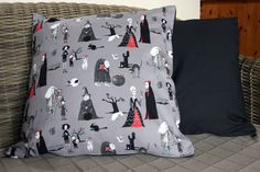 Halloween Cushion, Horror Cushion, Halloween Décor, Halloween Decorations, Horror Décor, Horror Gifts by BlossomvioletCrafts on Etsy https://www.etsy.com/ca/listing/248177367/halloween-cushion-horror-cushion