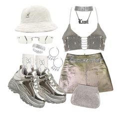 """""""Untitled #573"""" by youraveragestyle ❤ liked on Polyvore featuring Gucci, kangol, River Island, DIVA, Hoolala, Jean-Paul Gaultier, Y/Project, Yves Saint Laurent and Judith Leiber"""