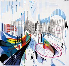 Painted by Nadir Afonso - Munich Victor Vasarely, Nadir Afonso, Guache, Famous Artists, Art Reference, Rome, Design Art, Abstract Art, Sculpture