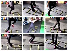 Agility Ladder Drills to improve your coordination and get in a great quick cardio workout. Agility Ladder Exercises - 30 Moves!