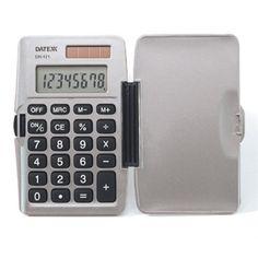 Paquete de 10 Calculadoras verticales dual power 8 dígitos. Con tapa $806mxn
