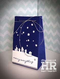 All Things Stampy: Simple festive Gift Bag using Punch Board