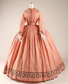 1862 American cotton dress
