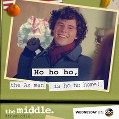 The Middle The Middle Series, The Middle Tv Show, Wtf Funny, Hilarious, Charlie Mcdermott, Abc Shows, Family Show, Tv Show Quotes, Reasons To Smile