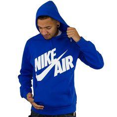 Nike Air Oversized Logo Hoodie royal/white