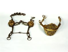KEYWORDS / TITLE  Snaffle, curb bit  BRIEF DESCRIPTION  curb bit for horses. 1600 or so.  DATING  1600s