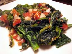 """Well, this confirms it. I only like broccoli raab in soups. I have tried several times because I am trying to """"eat more green leafy vegetab. Broccoli Raab, Sicilian Recipes, Seaweed Salad, Healthy Recipes, Healthy Food, Soups, Side Dishes, Cabbage, Favorite Recipes"""