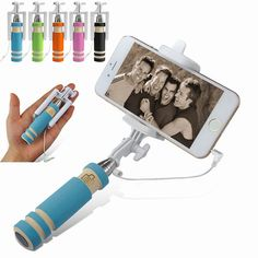 WIRED SELFIE STICK FOR IPHONE