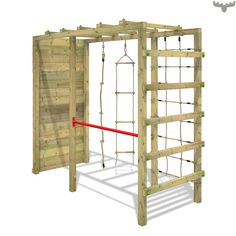 outdoor play area for kids – Kids' Playground . Backyard Jungle Gym, Backyard For Kids, Outdoor Jungle Gym, Kids Outdoor Play, Outdoor Play Areas, Climbing Frame Diy, Climbing Wall, Rock Climbing, Backyard Obstacle Course