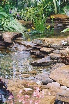 Backyard pond - Garden / Yard - Waterfall / Fountain / Water Feature #Landscaping  #japanesegardening