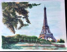Paris. In summer. Aquarelle 🎨