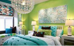 Jugendzimmer Gestalten Grüne Farbauswahl Schöner Wanddeko