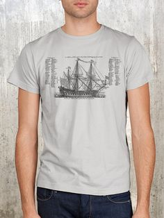 Hey, I found this really awesome Etsy listing at https://www.etsy.com/listing/93496355/old-ship-diagram-mens-screen-printed-t