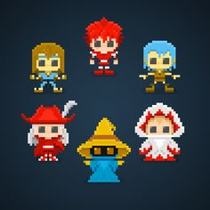 Black Belt, Fighter, Thief, White Mage, Black Mage and Red Mage... Select Your Job!  #ff #finalfantasy #blackbelt #fighter #thief #whitemage #blackmage #redmage #job #jobs #pixelart #pixel #16bit #instagamer #retrogaming #retrogames #theoluk