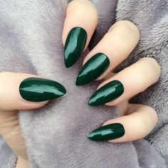 Deep Green Gloss Stiletto, £12.99