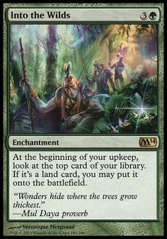Magic the Gathering Card Reviews: Into the Wilds from Magic 2014 Core Set - #mtg