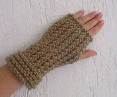 Luvas de frio tricô - Sem dedos