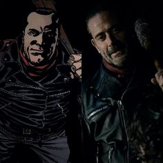 Negan in the comics and the show
