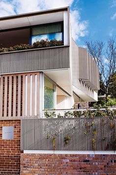 Think that living with your mother might be a drag? Andrew Benn's award-winning project shows that there's plenty of design advantages and day-to-day benefits to buying the house next door. Home Fencing, Fences, Modern Fence Design, External Cladding, Australian Homes, Exposed Brick, New Homes, House Design, Inspiration